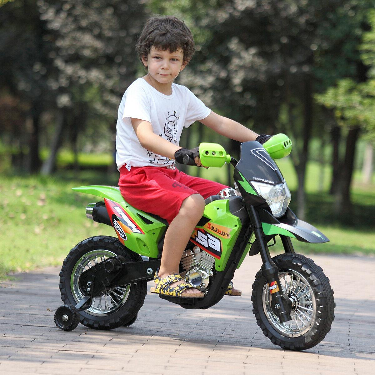 6V Ride Motorcycle Toy Electric Powered Training wheels Color