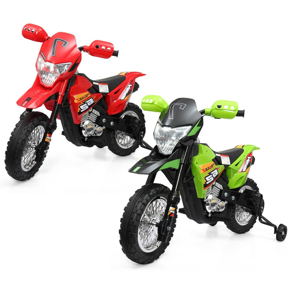 6V Kids Motorcycle Powered Training Color
