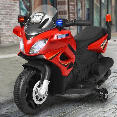 6V Police Motorcycle w/