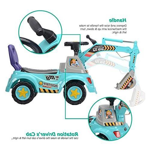 POCO DIVO scooter, Ride-on excavator, Pretend construction