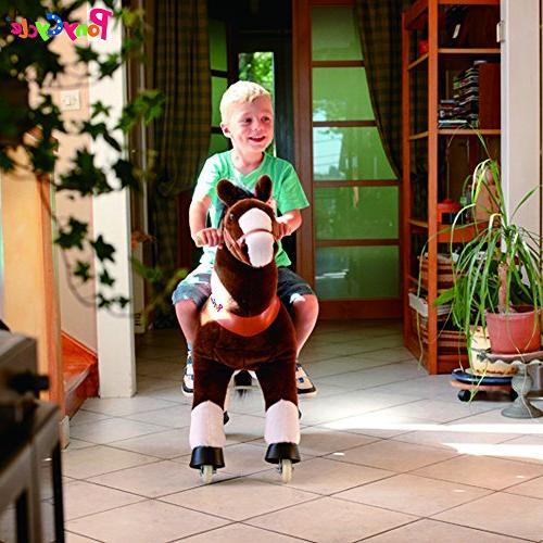 Smart Gear Chocolate, Light Brown, 2 Simulated Kids Age Ponycycle Medium