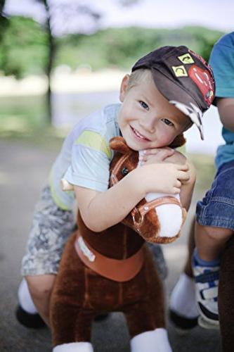 Smart Gear Chocolate, Brown, Brown Horse Riding Toy: 2 Sizes: World's Simulated Riding Toy Kids Age Years Ponycycle Ride-on Medium