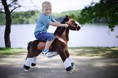 PonyCycle Kids Manual Ride on Horse Medium 4-9 Years Black NEW