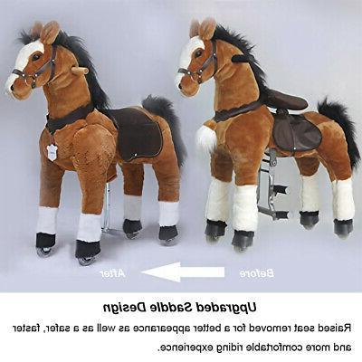 """UFREE Ride on Action Pony 44""""Large, 6-Adult, Unicorn Golden"""