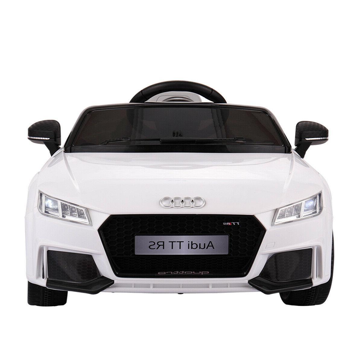 Audi TT Ride Electric Licensed MP3 R/C Remote White
