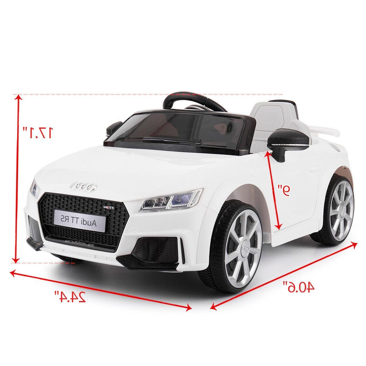 12V Audi TT RS Toys Car Motor Remote