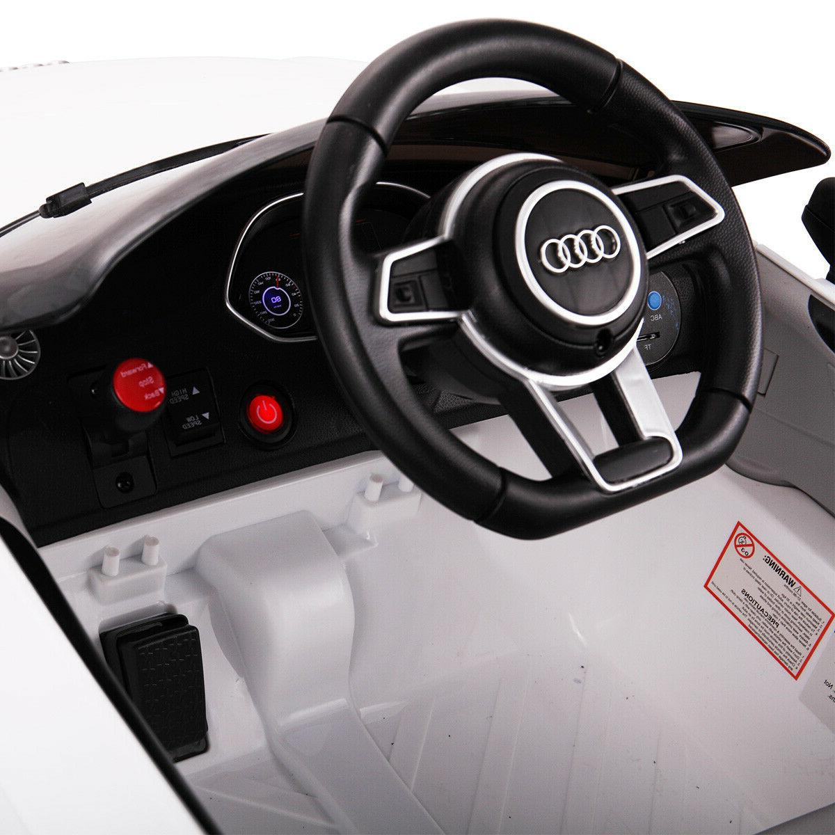 Audi RS Kids Ride On Car Electric Licensed Remote White