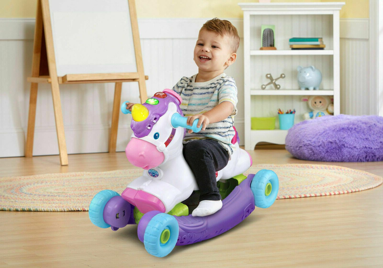 Baby Interactive Unicorn Toy Ride On Toddler Rocking Music