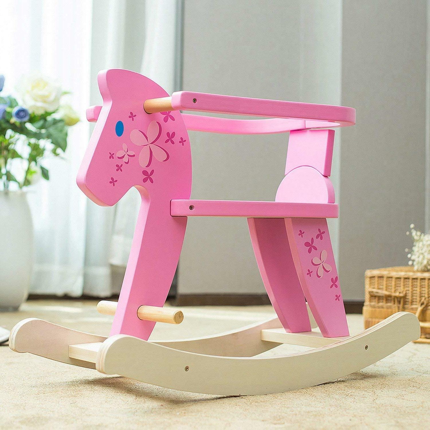 Labebe Ride Pony Rocking Pink Chairs