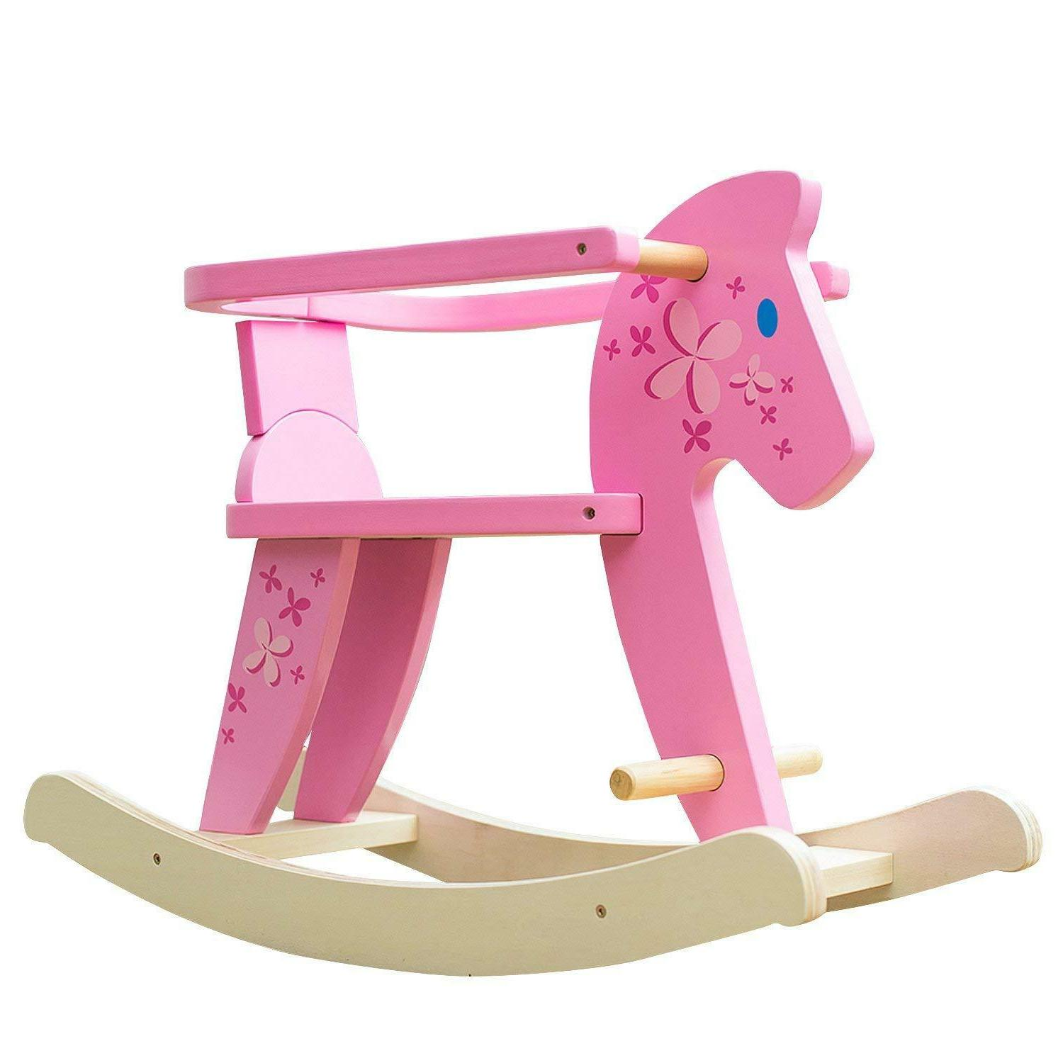 Labebe on Pony Rocking Pink Chairs