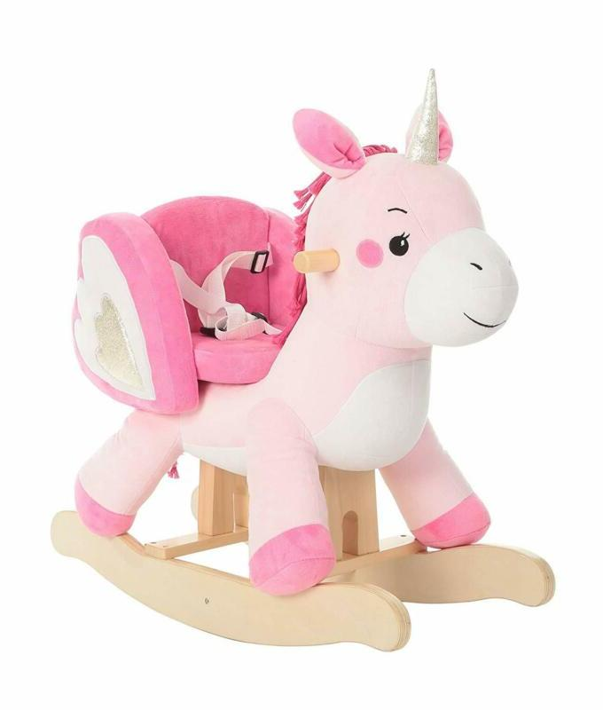 baby rocking horse pink ride unicorn kid