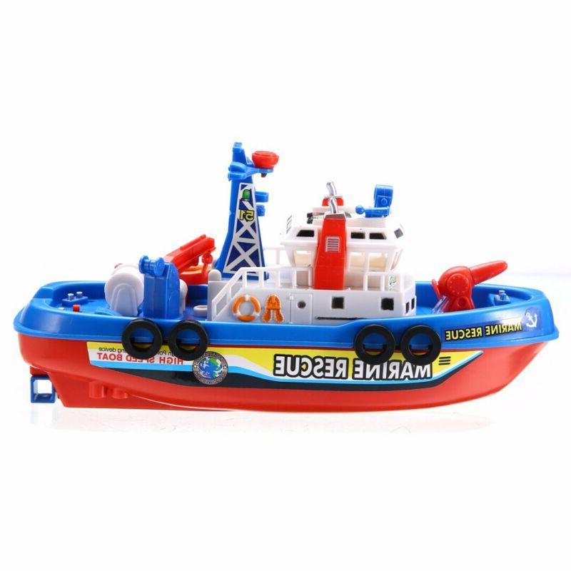 Baby Toy Rescue Rides In Squirting Ship