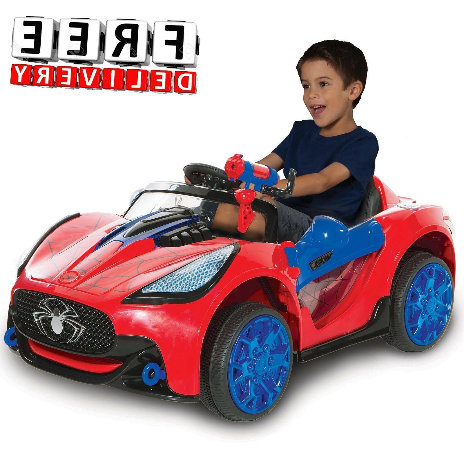 Battery Powered Car For Kids Ride On Toy 6V Electric Spiderm