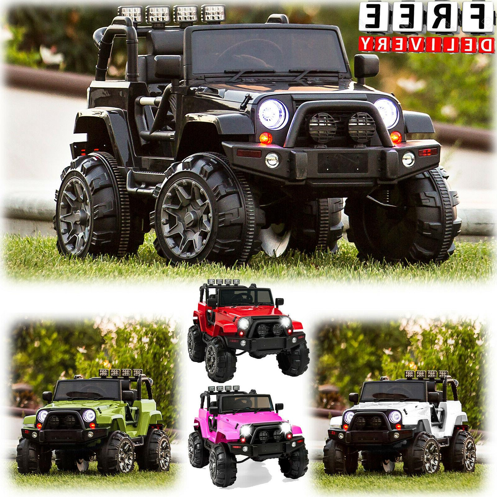 Battery Powered Jeep 12V Toddler Ride On Toys Remote Control