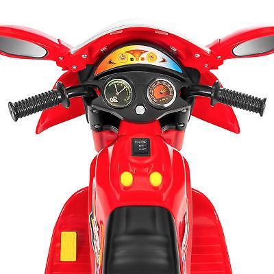 BCP 6V Kids Motorcycle Ride-On LED