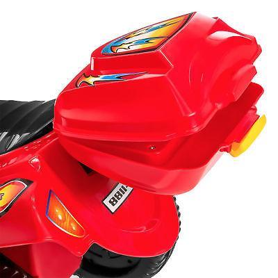 BCP 6V 3-Wheel Motorcycle Ride-On LED Lights, Music,