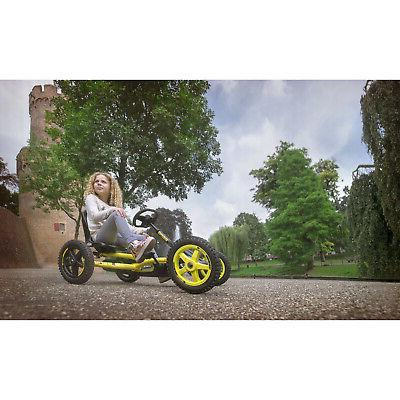 BERG Cross Kids Pedal On Toy Steering, Black & Yellow