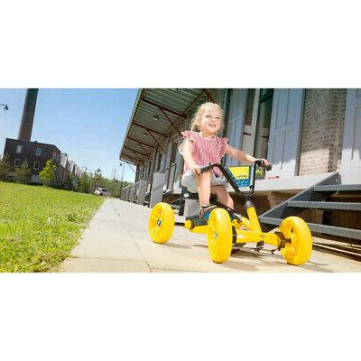 BERG Buzzy Kids Pedal Go Kart Ride On Toy with Steering,