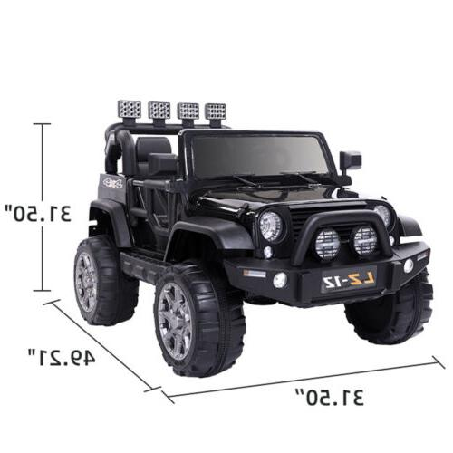 Black Ride On Jeep 3 Wheel with Control