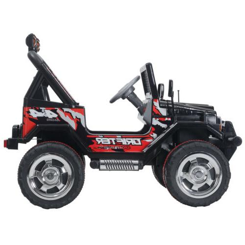 Black Car Electric Toys Jeep Remote 3