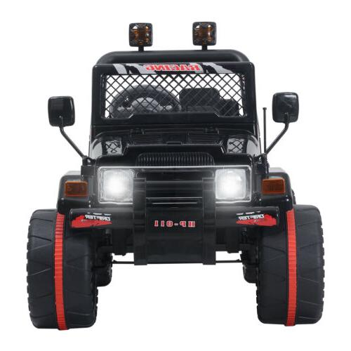 Black Ride Car Electric Toys Jeep 3
