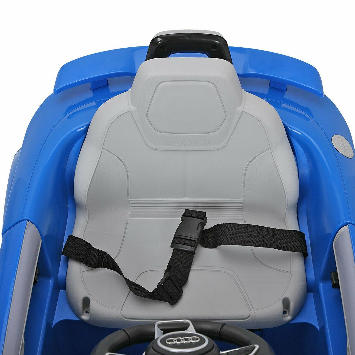 Blue TT 12V Electric Kids Ride Car Licensed Remote &