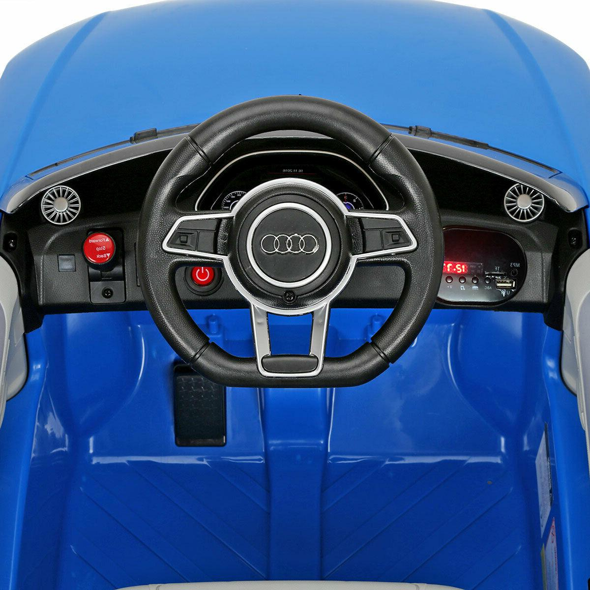 Blue Audi Electric Kids Car Remote MP3