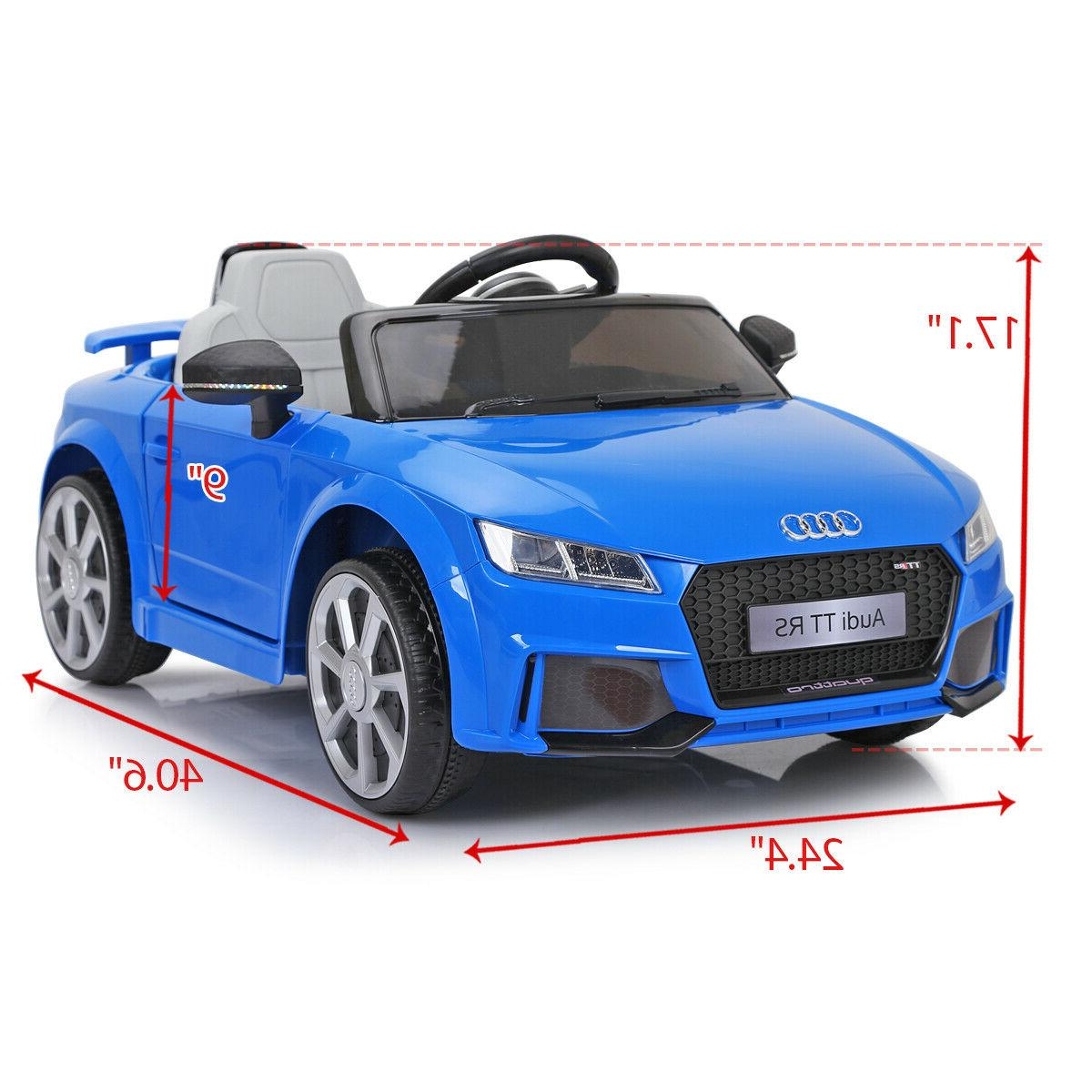 Blue 12V Electric Kids Ride Car Licensed Remote &