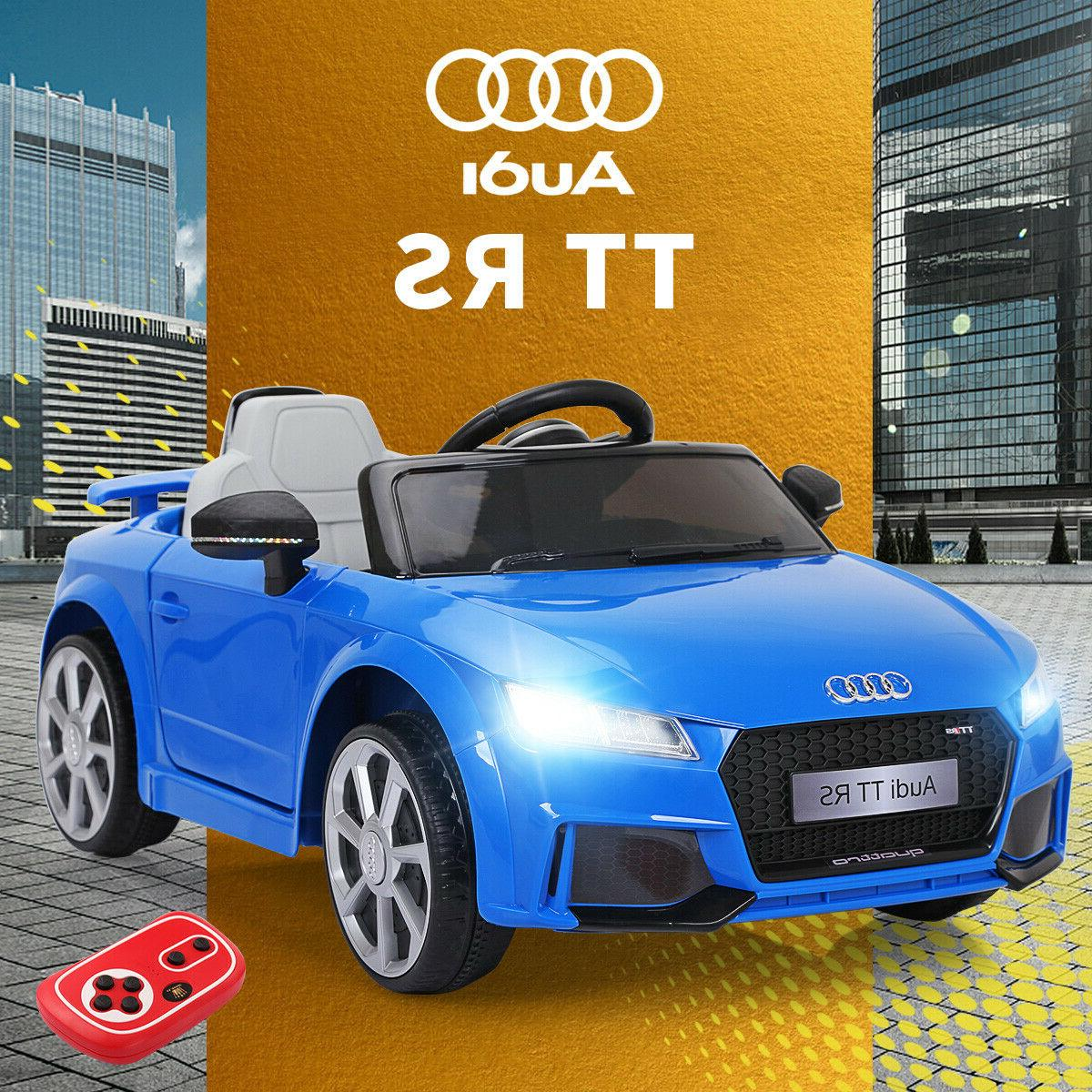 blue audi tt 12v electric kids ride