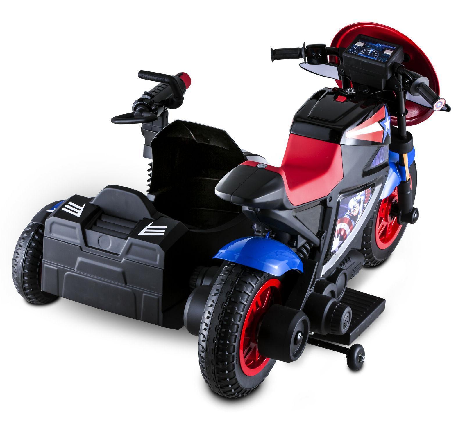 Captain America Motorcycle Kid Ride-On Toy Sidewalk Vehicle