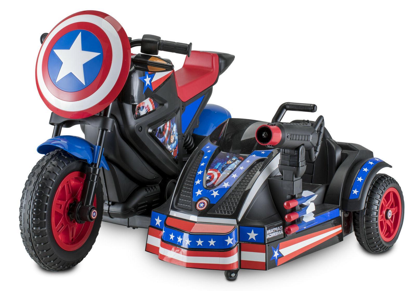 Captain America Motorcycle Kid Sidewalk Vehicle