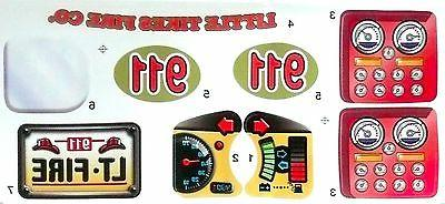 LITTLE TIKES Cozy Coupe Ride & Fire Truck Replacement >NEW