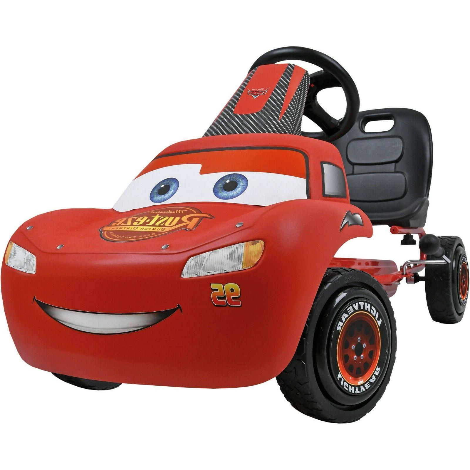 Lightning McQueen Pedal Go Kart Disney Cars Ride On Tricycle