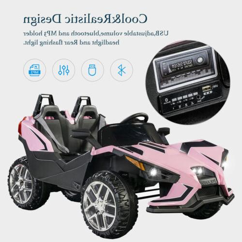 Electric Kids on Battery Car Truck Music Pink