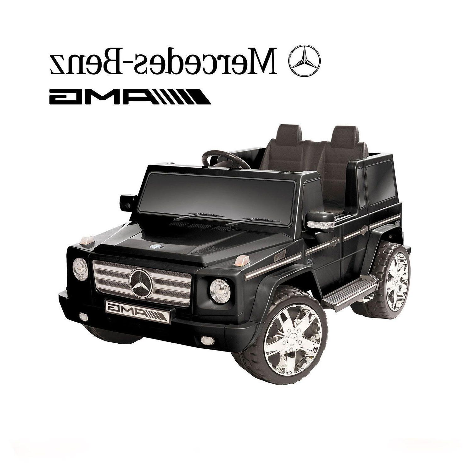Electric To Ride On Motorized Black Powered SUV
