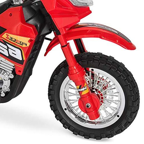 Best 6V Kids Electric w/ 2mph Speed, Training Lights, Music, Charger - Red