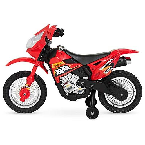 Kids Ride-On Motorcycle w/ Max Speed, Training Wheels, Lights, Music,