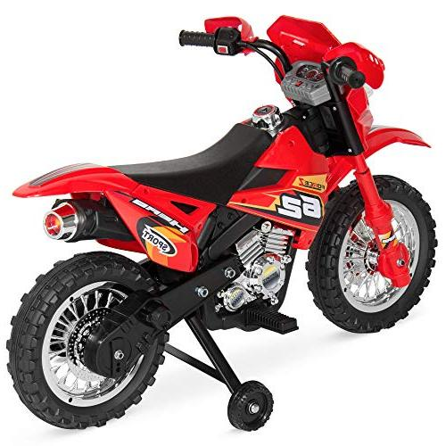 Best Choice Kids Ride-On Motorcycle Dirt Toy w/ 2mph Max Training Charger -