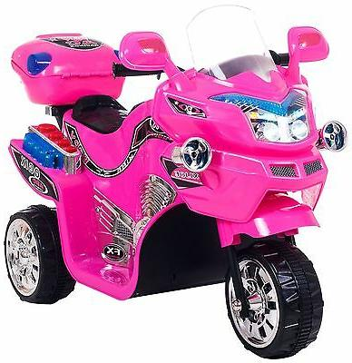 Kids Electric Motorcycle Powered Bike Ride Toy Pink