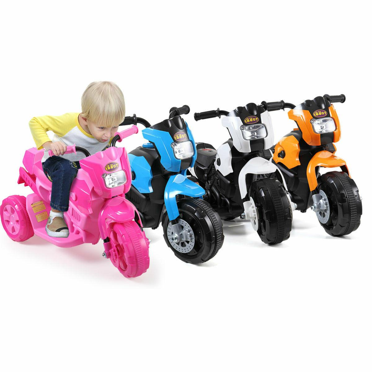 Electric Motorcycle Kids On Toy Battery 3 Wheels 4