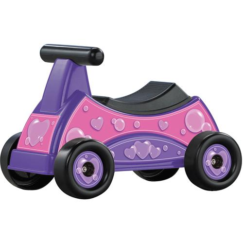 heart ride on toy pink purple girl