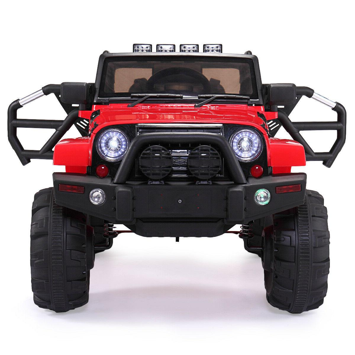 Red Electric 12V Kids Ride on Truck Car Battery, Remote