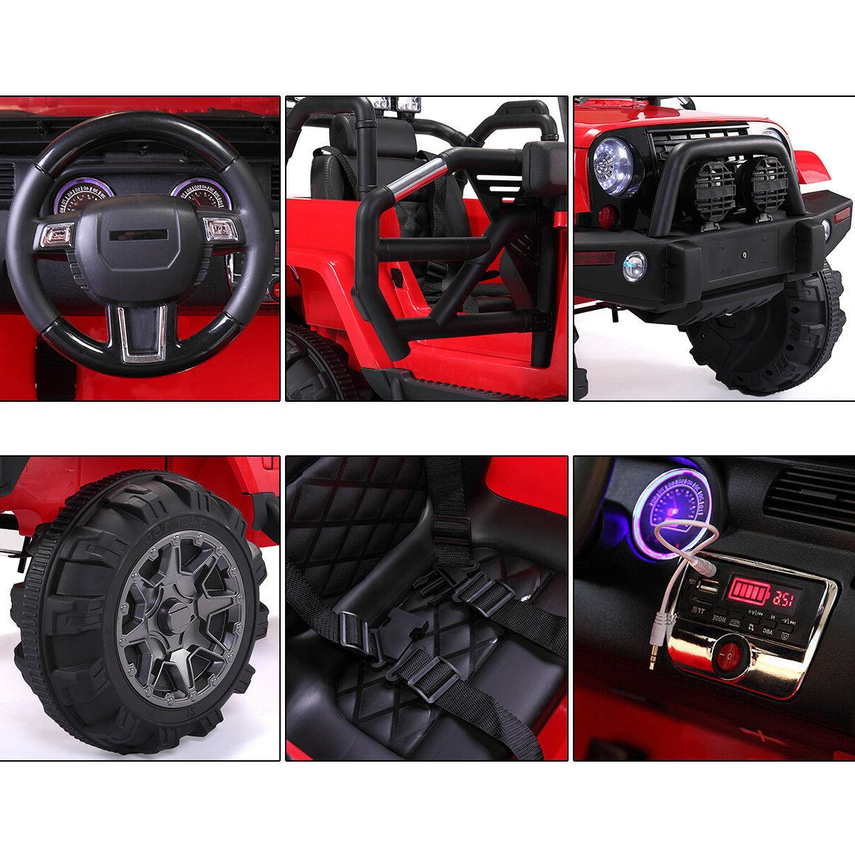 Red 12V Ride on Battery, Light, MP3, Remote