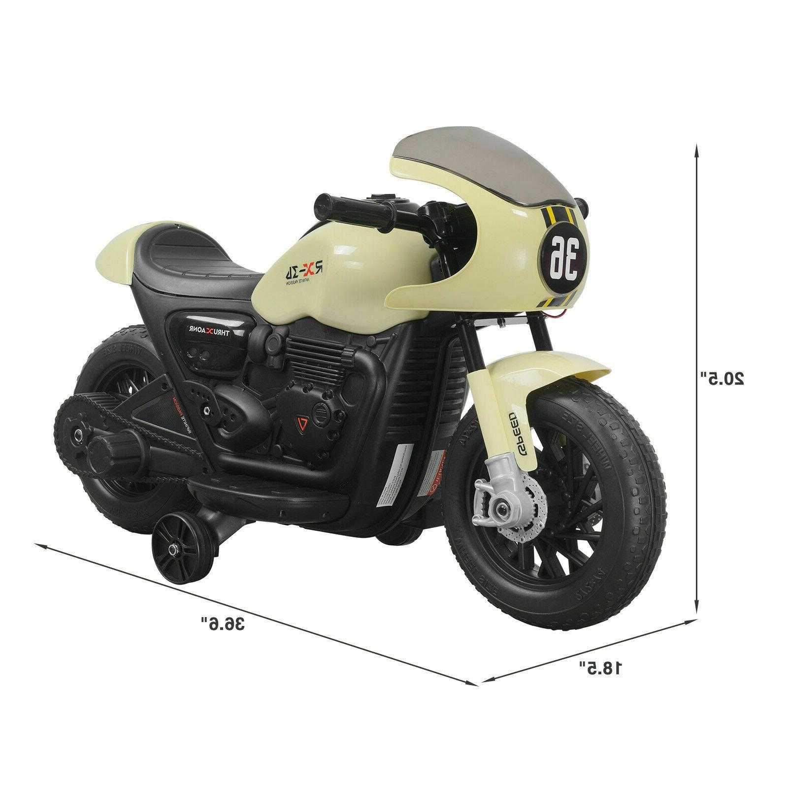 Kids Child Ride Motorcycle Toy Car with Training