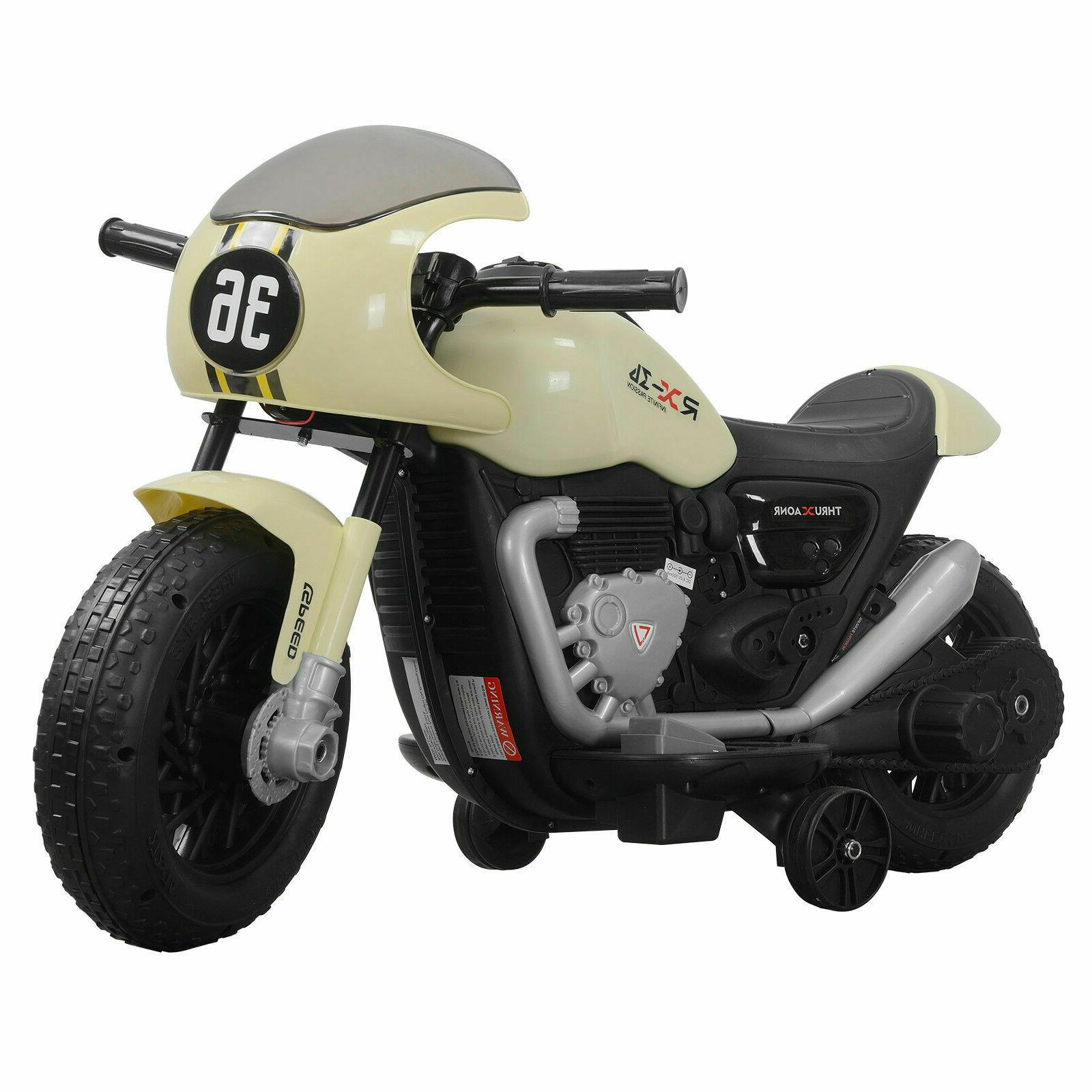 Kids Electric Motorbike Ride On Motorcycle Car Training Wheels