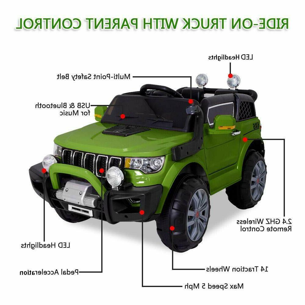 Kids Jeep Electric Wheels Remote Control Light Toy