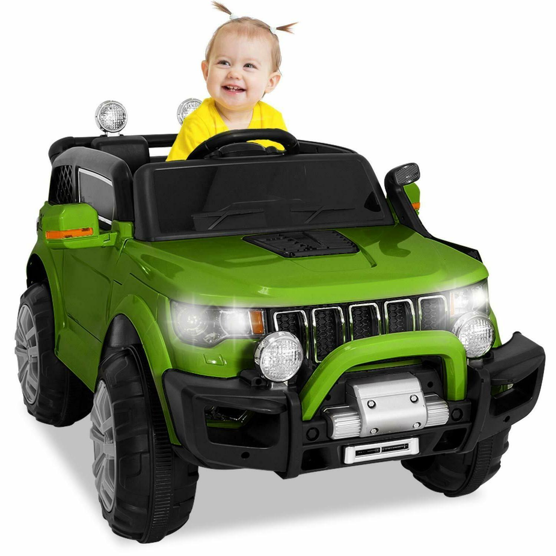 Kids Ride Jeep Wheels Light