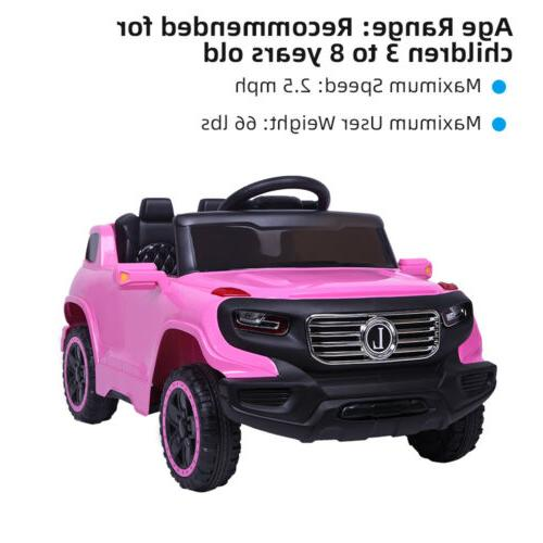 Kids Ride on Car Toys Electric 3 Speed Remote Control Pink