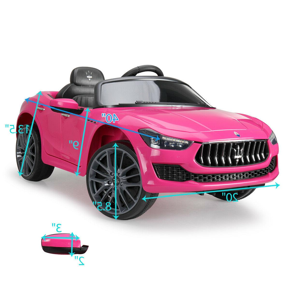 Kids Ride - Children Maserati Ghibli Toys LED Headlights