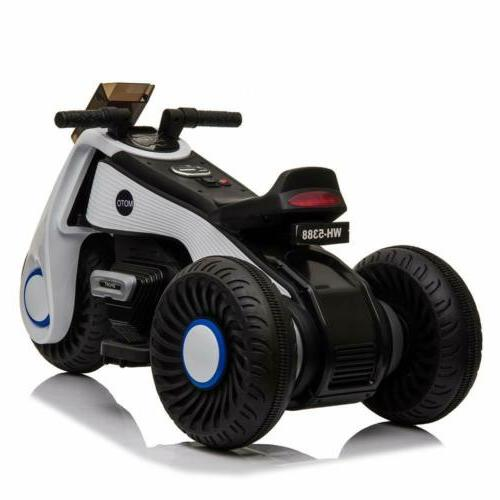 12V Electric Motorcycle Ride With 3 Wheels